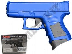 P698 BB Gun Glock 26 Compact Replica Spring Powered Pistol 2 Tone Blue